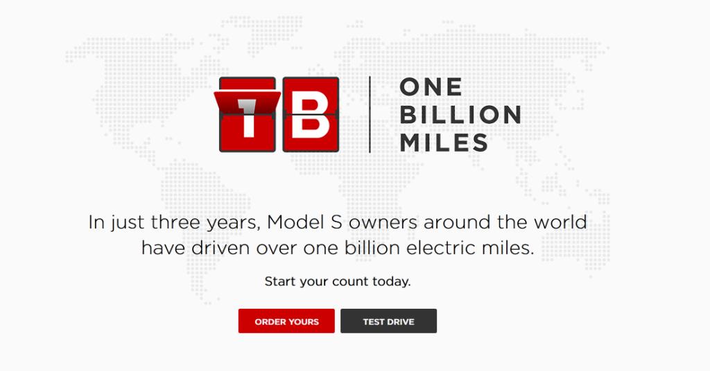 tesla model s 1 miliard mile