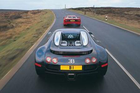 Bugatti Veyron versus Ferrari F40