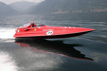 Super barca Ferrari